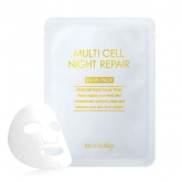 Тканевая маска на фито-стволовых клетках Secret Key Multi Cell Night Repair Mask Pack