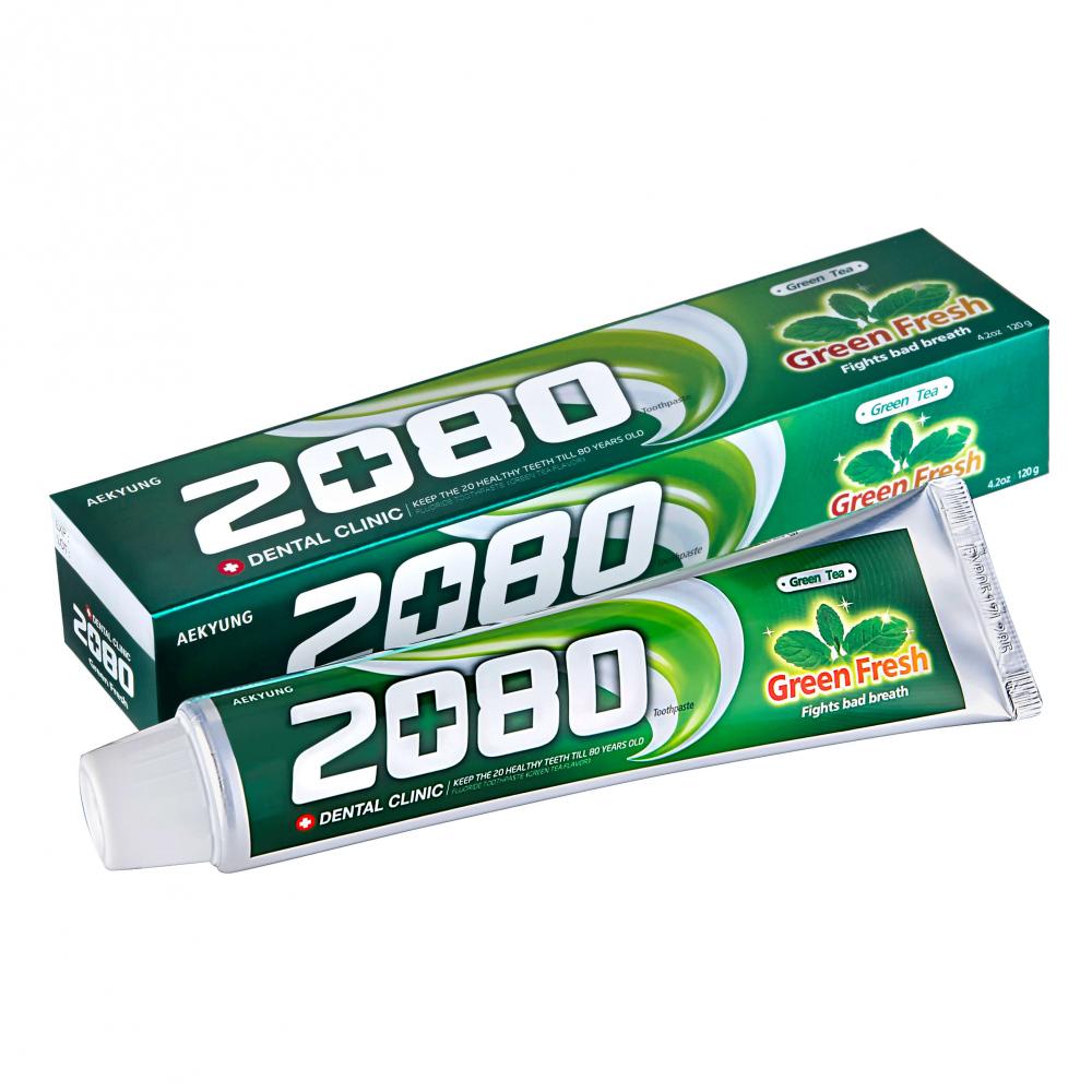 Зубная паста Dental Clinic 2080 Green Fresh Toothpaste — купить в Москве по цене 200 рублей | Интернет-магазин Hollyshop