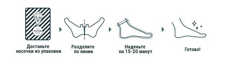 Увлажняющая маска-носочки для ног Village 11 Factory Relax-Day Foot Mask