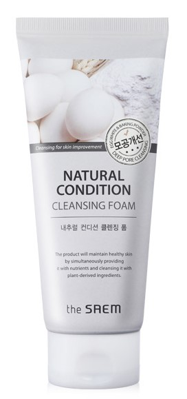 Пенка скраб the saem natural condition cleansing foam