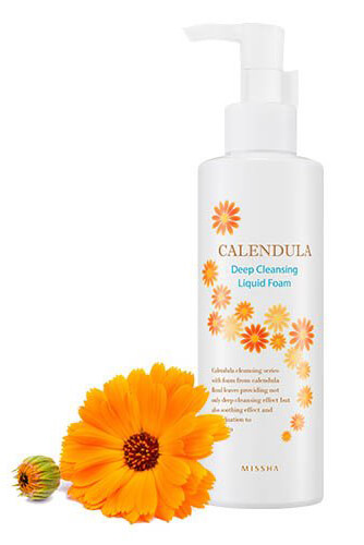 Missha Calendula Deep Cleansing Liquid Foam