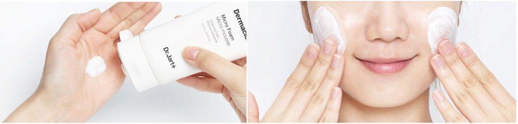 Применение Dr.Jart+ Dermaclear Micro Foam Micro-Mousse Cleansing Foam
