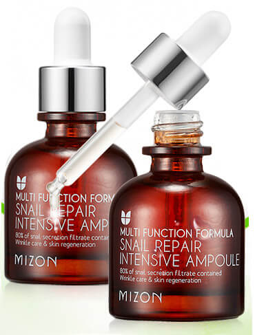 Баночка mizon snail repair intensive ampoule
