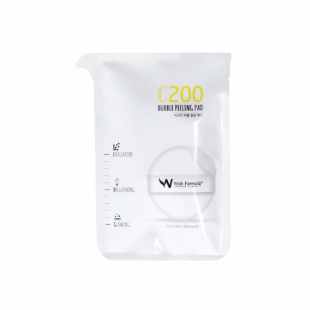 Спонж-пилинг для лица с витамином С Wish Formula C200 Bubble Peeling Pad