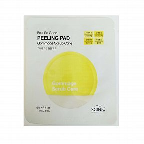 Очищающий скраб-спонж Scinic Feel So Good Peeling Pad Gommage Scrub Care