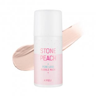 Apieu Stone Peach Pore Less Bubble Mask