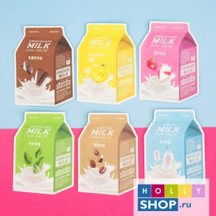 Молочные тканевые маски  A'Pieu Milk One Pack