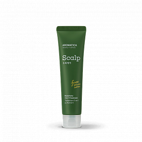 Укрепляющая маска для восстановления волос с розмарином AROMATICA Rosemary Scalp 3-in-1 Treatment