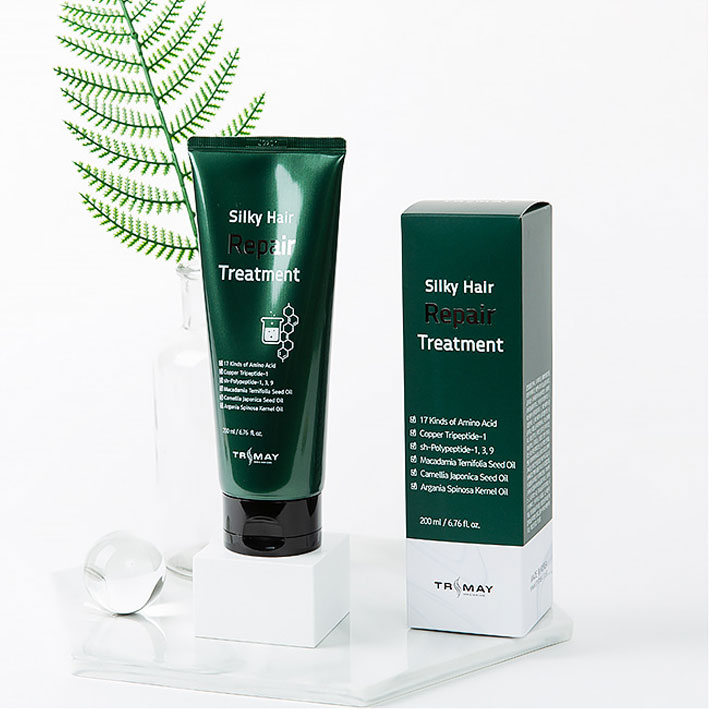 Слабокислотный восстанавливающий бальзам с пептидами Trimay Silky Hair Repair Treatment