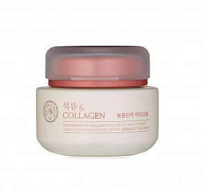 Лифтинг-крем для век с гранатом The Face Shop Pomegranate & Collagen Volume Lifting Eye Cream