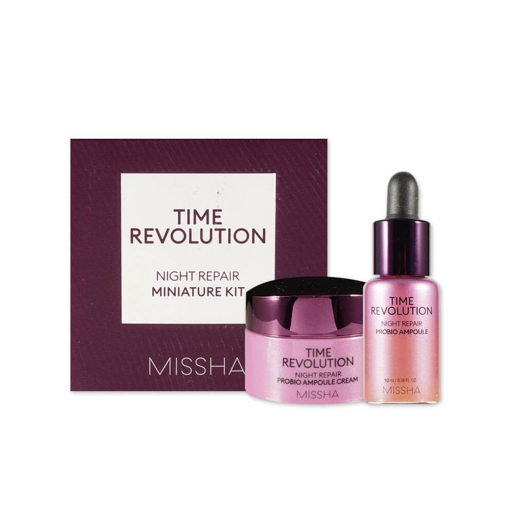 Набор миниатюр с пробиотиками Missha Time Revolution Night Repair Probio Miniature Kit