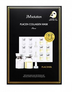 Плацентарная тканевая маска с коллагеном JMsolution Placen Collagen Mask Pure