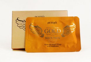 Маски для области шеи Petitfee Gold Neck Pack Hydrogel Angel Wings